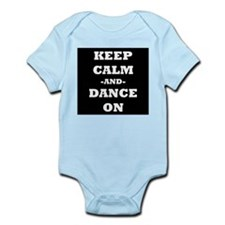 Keep Calm And Dance On (Black) Body Suit