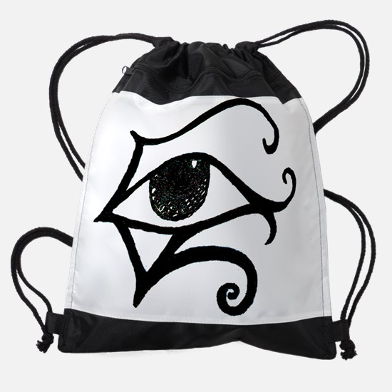 egyptinaeyewhite.JPG Drawstring Bag