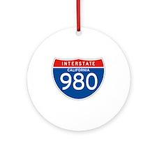 Interstate 980 - CA Ornament (Round)