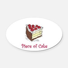 piece of cake.png Oval Car Magnet