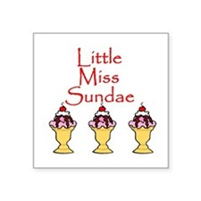 "lm sundae.png Square Sticker 3"" x 3"""