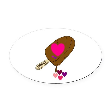 fudgesicle.png Oval Car Magnet