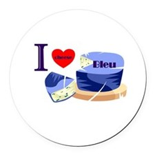 i heart bleu cheese.png Round Car Magnet