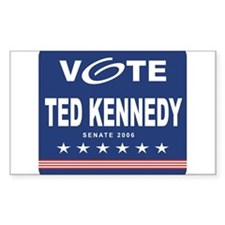 Vote Ted Kennedy Rectangle Decal