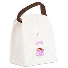 i love tea new.png Canvas Lunch Bag