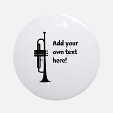 Custom Trumpet Ornament (Round)