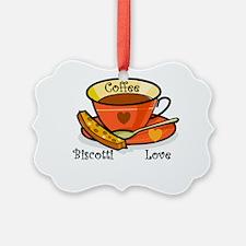 coffee biscotti love triangle.png Ornament