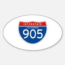 Interstate 905 - CA Oval Decal