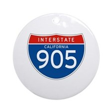 Interstate 905 - CA Ornament (Round)