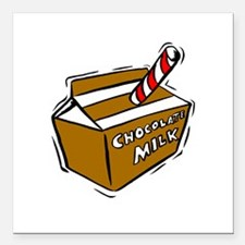 "chocolate milk.jpg Square Car Magnet 3"" x 3"""