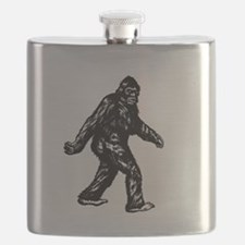GONE SQUATCHIN BIGFOOT TSHIRT Flask