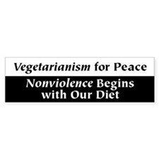 Vegetarianism for Peace Bumper Stickers