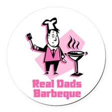 real dads.jpg Round Car Magnet