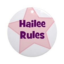 Hailee Rules Ornament (Round)