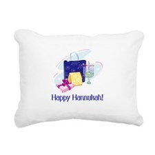 happy hannukah.png Rectangular Canvas Pillow