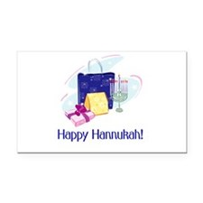 happy hannukah.png Rectangle Car Magnet