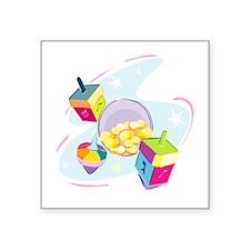 """pastel dreidels.png Square Sticker 3"""" x 3"""""""