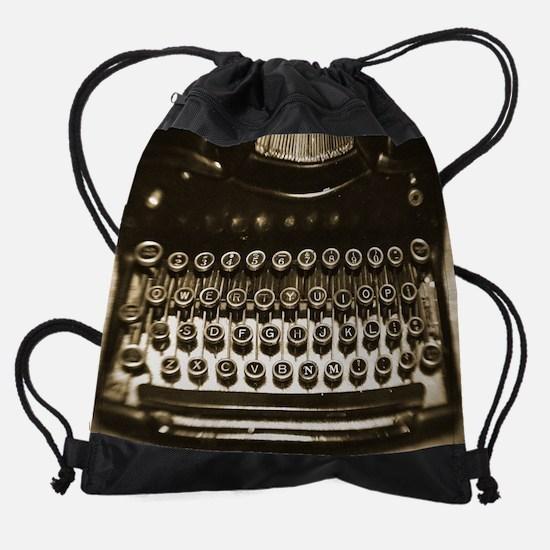 Vintage Typewriter Drawstring Bag
