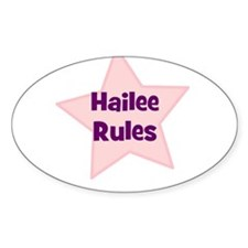 Hailee Rules Oval Decal