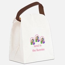 send in the bunnies.png Canvas Lunch Bag