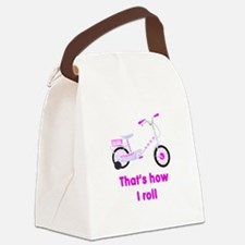 girls bike.png Canvas Lunch Bag