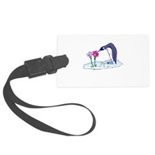 flower penguin.png Luggage Tag