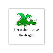 "sleepy dragon.png Square Sticker 3"" x 3"""