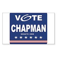 Vote Richard Chapman Rectangle Decal
