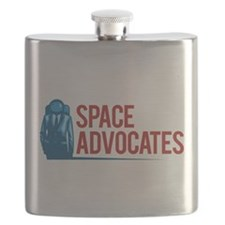 Space Advocates Badge Flask