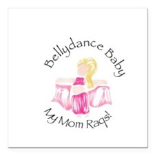 """Bellydance Baby Girl Square Car Magnet 3"""" x 3"""""""