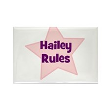 Hailey Rules Rectangle Magnet