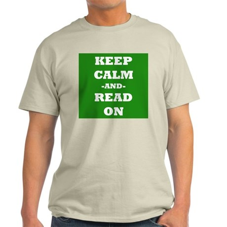 Keep Calm And Read On (Green) T-Shirt