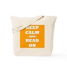 Keep Calm And Read On (Orange) Tote Bag