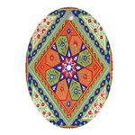 Russian Folkart Oval Ornament