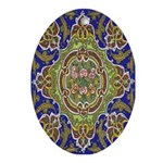 Russian Blue Oval Ornament