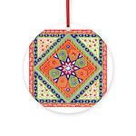 Russian Folkart Ornament (Round)