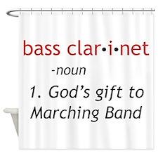 Bass Clarinet Definition Shower Curtain
