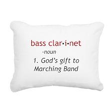 Bass Clarinet Definition Rectangular Canvas Pillow