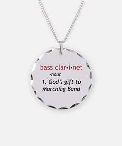 Bass Clarinet Definition Necklace