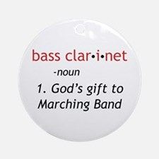 Bass Clarinet Definition Ornament (Round)