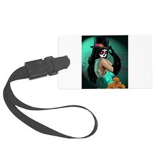 Top Hat Dia de los Muertos Pin-up Luggage Tag