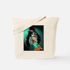 Top Hat Dia de los Muertos Pin-up Tote Bag