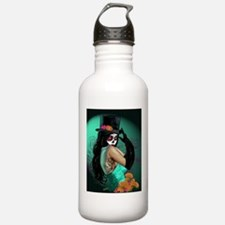 Top Hat Dia de los Muertos Pin-up Water Bottle