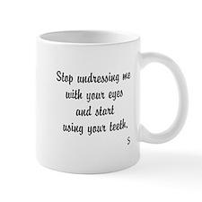 Undressing Me Teeth Mug