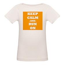 Keep Calm And Run On (Orange) T-Shirt