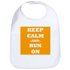 Keep Calm And Run On (Orange) Bib