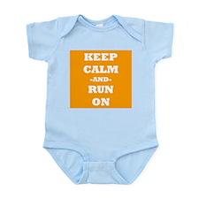 Keep Calm And Run On (Orange) Body Suit