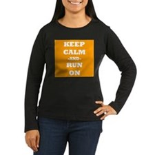 Keep Calm And Run On (Orange) Long Sleeve T-Shirt