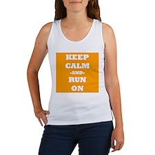 Keep Calm And Run On (Orange) Tank Top