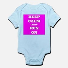 Keep Calm And Run On (Pink) Body Suit